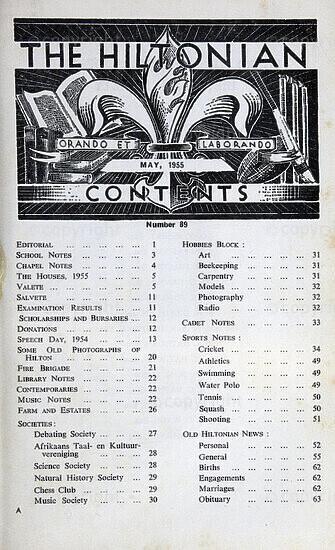 The Hiltonian, May 1955, No. 89