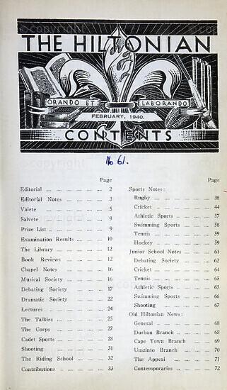 The Hiltonian, February 1940, No. 61