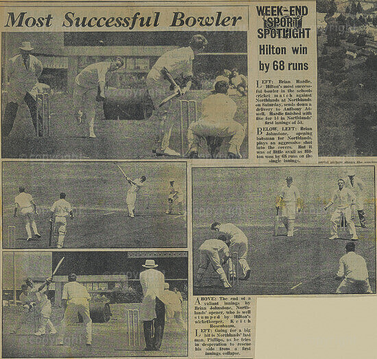 Newspaper Article (Cricket Results)