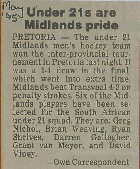 Newspaper Article (Hockey Results)