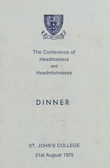 Programme and Menu