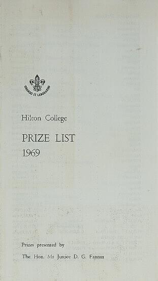 Prize List Programme