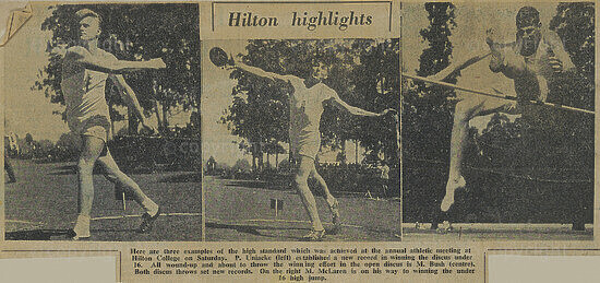 Newspaper Article (Athletics Results)