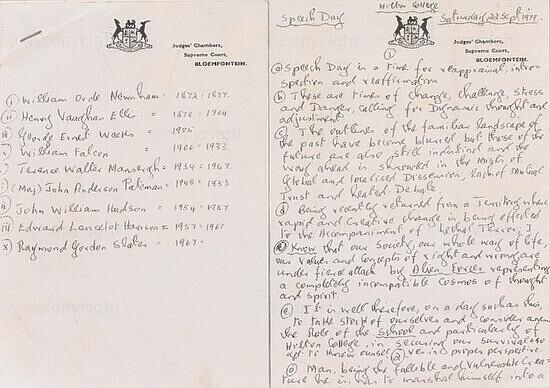Handwritten Speech