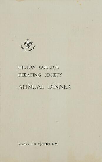 Menu of Official Dinner