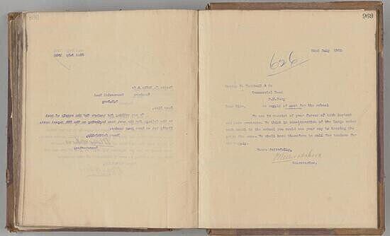 Hilton College Letter Book, No. 2, 1904 to 1905.