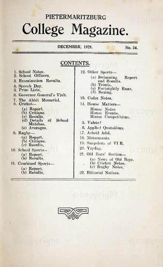 Maritzburg College Magazine December 1929