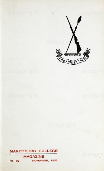 Maritzburg College Magazine November 1958