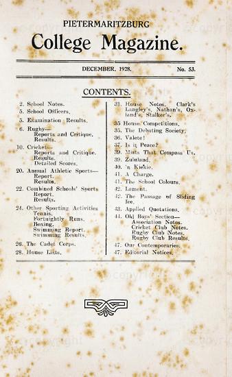 Maritzburg College Magazine December 1928