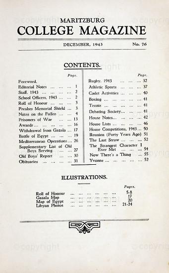 Maritzburg College Magazine December 1943