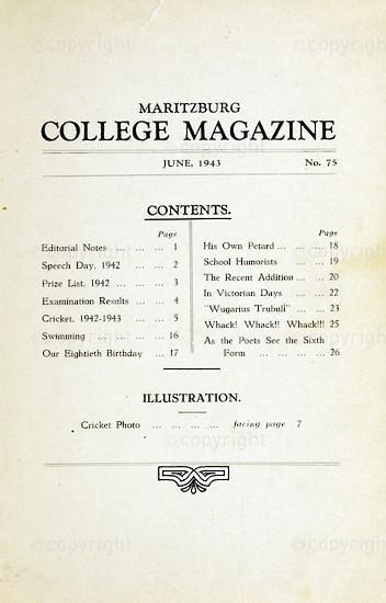 Maritzburg College Magazine June 1943