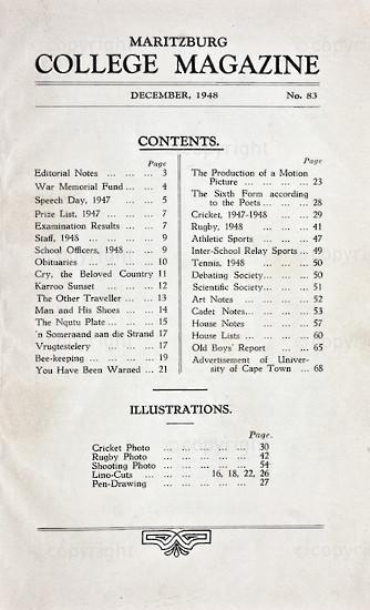 Maritzburg College Magazine December 1948
