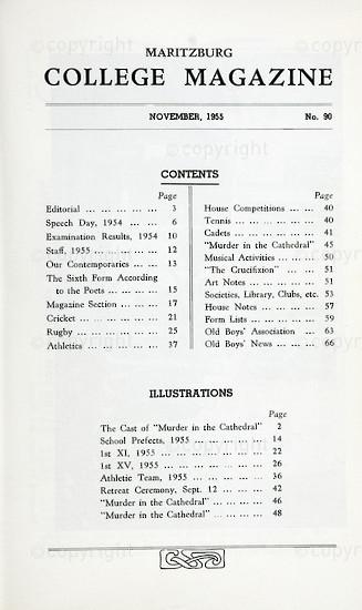 Maritzburg College Magazine November 1955