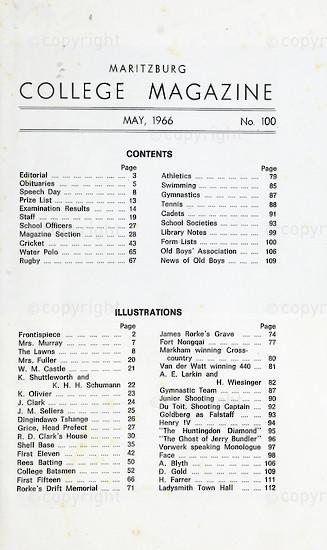 Maritzburg College Magazine May 1966