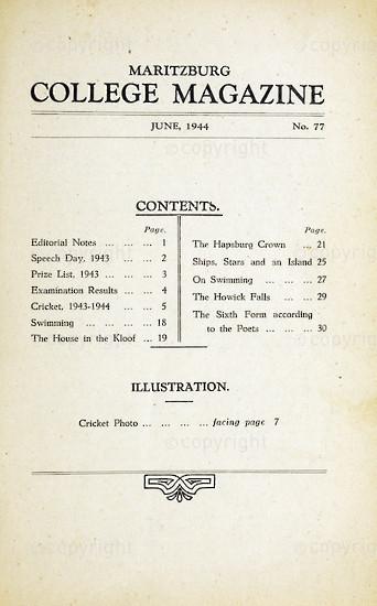 Maritzburg College Magazine June 1944