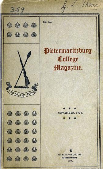 Maritzburg College Magazine November 1935
