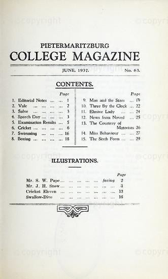 Maritzburg College Magazine June 1937