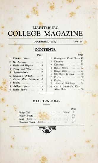 Maritzburg College Magazine December 1937
