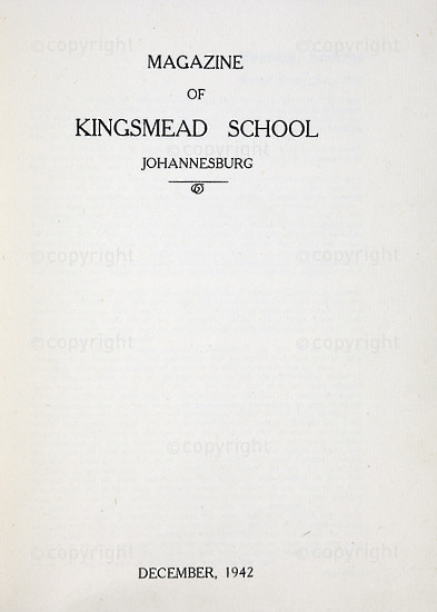 Kingsmead College Magazine 1942