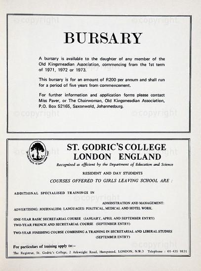 Kingsmead College Magazine 1969