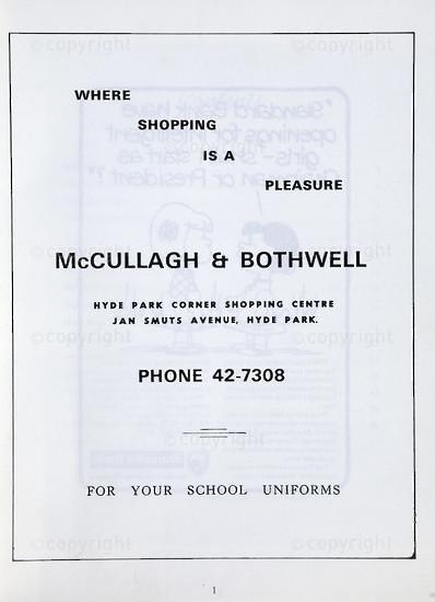 Kingsmead College Magazine, April 1974