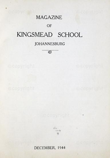 Kingsmead College Magazine 1944
