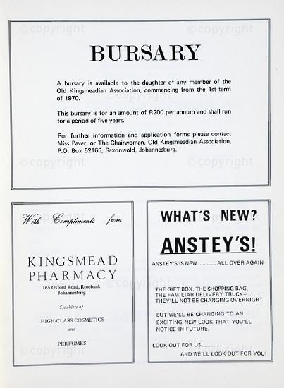 Kingsmead College Magazine 1968