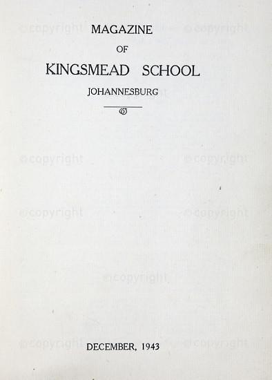 Kingsmead College Magazine 1943