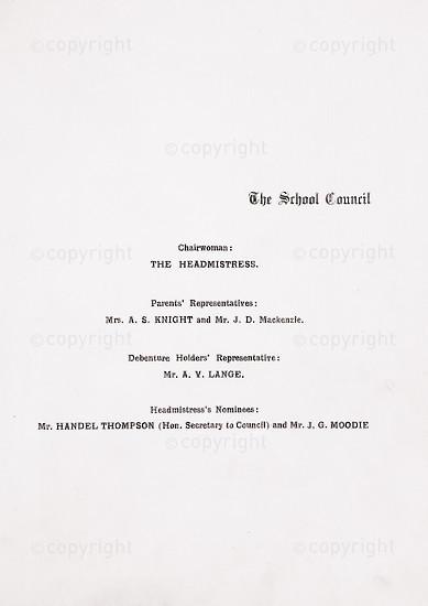 Kingsmead College Magazine 1934