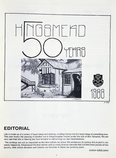 Kingsmead College Magazine, 1983