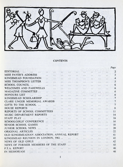 Kingsmead College Magazine 1961