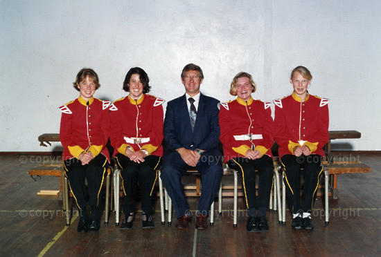 First Girls in the Marching Band - 1992