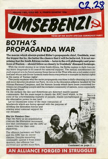 HWC_A1003: Umsebenzi, Vol.4, Issue Number 4, 1986