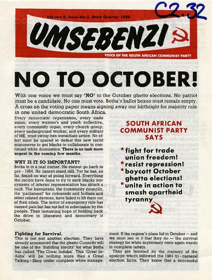 HWC_A1010: Umsebenzi, Vol.4, Issue number 3, 1988