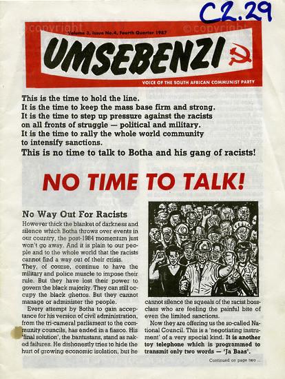 HWC_A1005: Umsebenzi, Vol.3, Issue number 4, 1987