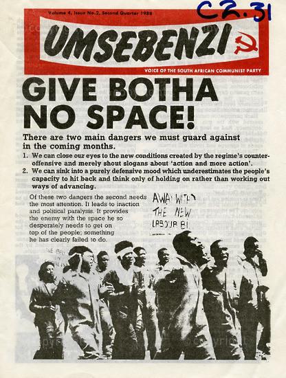 HWC_A1008: Umsebenzi, Vol.4, Issue number 2, 1988