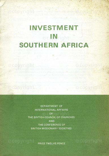 HWC_A3031: Investment in Southern Africa