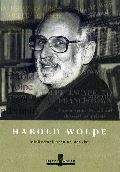 HWC_A3060: Harold Wolpe: Intellectual, Scholar, Activist