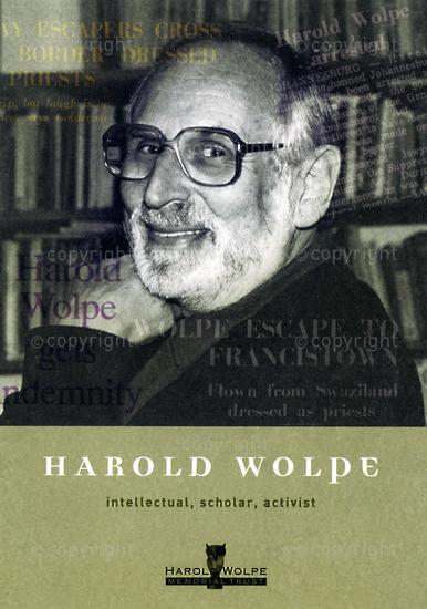 HWC_A3058: Harold Wolpe: Intellectual, Scholar, Activist