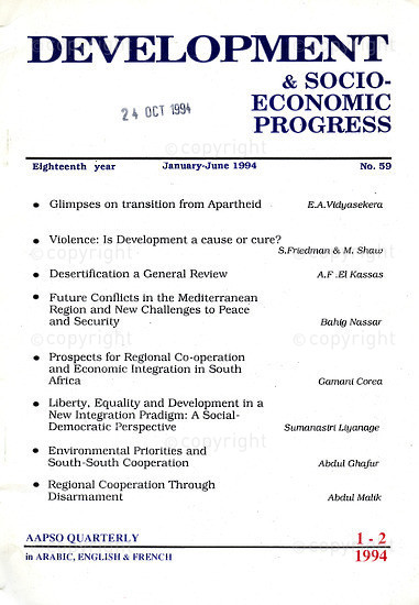 HWC_A3021: Afro - Asian People's Solidarity organization (AAPSO) Quarterly, Issue Number 59