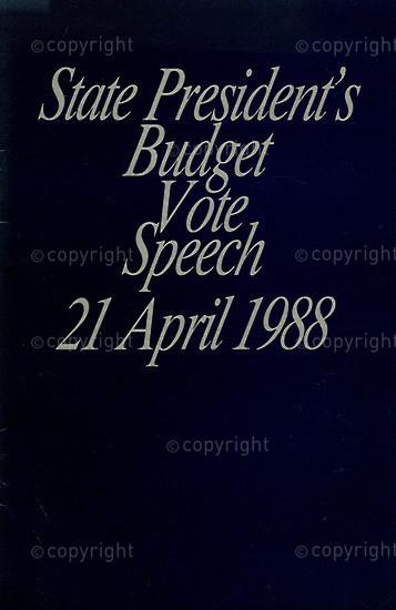 HWC_A3048: State President's Budget Vote Speech