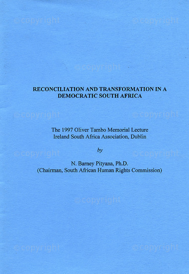 HWC_A3037: Reconciliation and Transformation in a Democratic South Africa