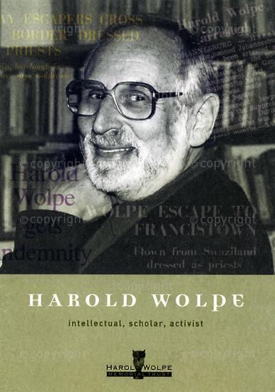 HWC_A3061: Harold Wolpe: Intellectual, Scholar, Activist
