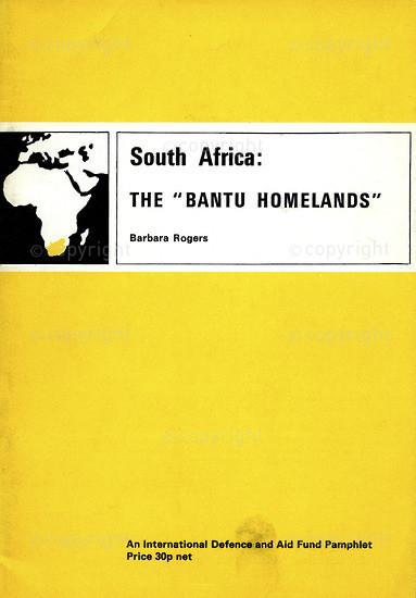 HWC_ A3011: South Africa: The Bantu Homelands