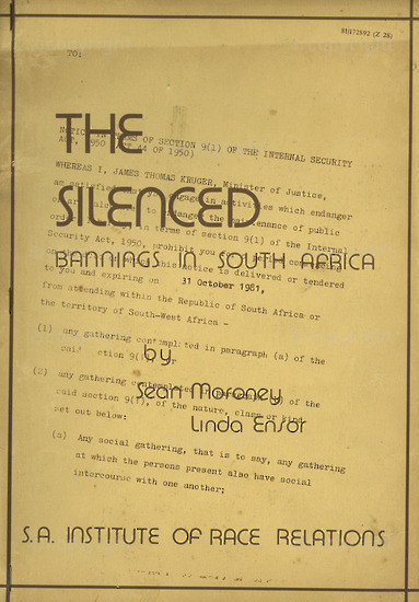 HWC_B1002: The Silenced Banning in South Africa