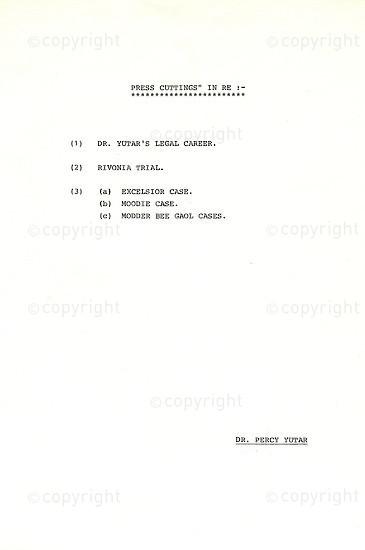 PYC_E1002: Dr Percy Yutar's Legal  Career