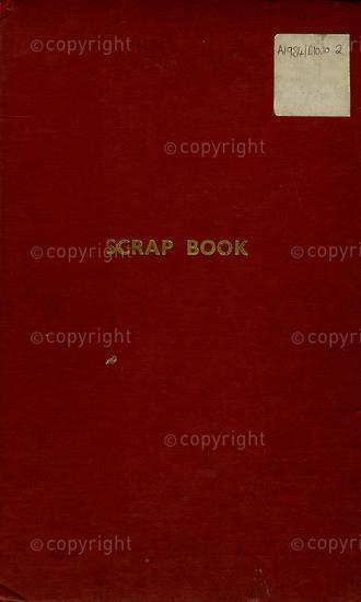 BFC_A3009: Red Scrapbook II (Newspaper Clippings)