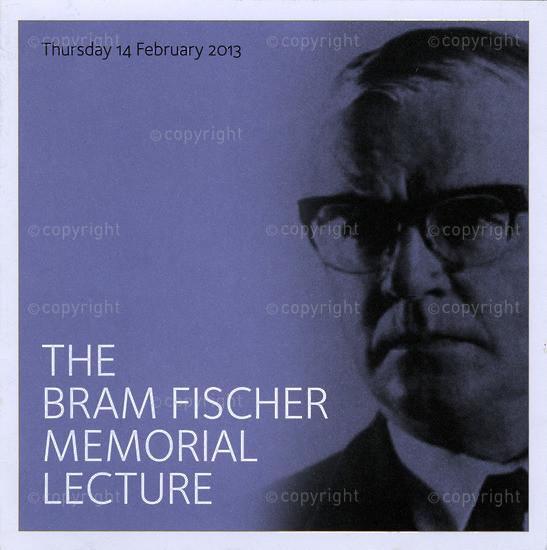 BFC_A3004The Bram Fischer Memorial Lecture