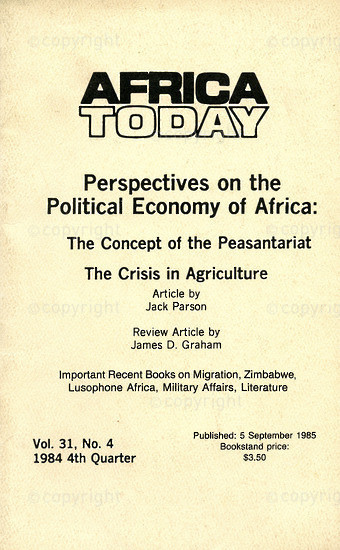 HWC_A3049: Africa Today, Vol.31, Issue Number 4