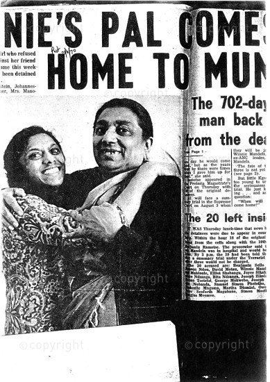 NFC_C1013: Newspaper Clipping: Shantie's Pal  Comes home to mom